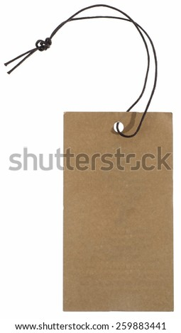 Blank label with string - stock photo