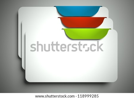 Blank labels and bookmarks with space for text - stock photo