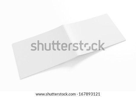 Blank Lanscape Catalog isolated on white for your design - stock photo