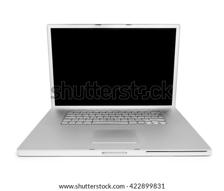 Blank laptop, isolated on white with copy space