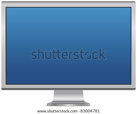 Blank LCD monitor - stock photo