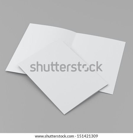 blank leaflet or brochure in A4 size. - stock photo