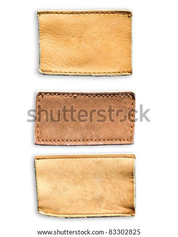 Blank leather jeans labels
