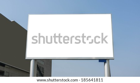 blank led advertising billboard in the city - stock photo
