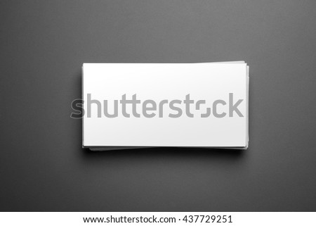 Blank letter template isolated on grey background with clipping path ready for your artwork - stock photo