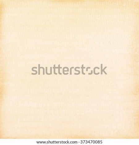 Blank light brown paper background, craft material, design element - stock photo