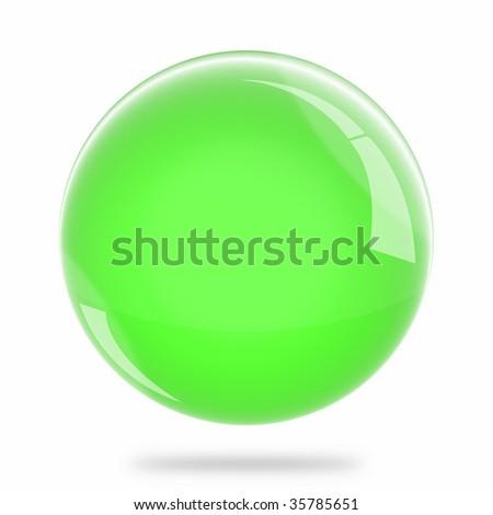 Blank Light Green Sphere Float - stock photo