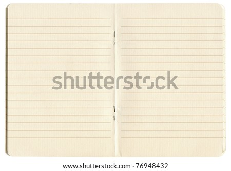 blank lined exercise book - stock photo