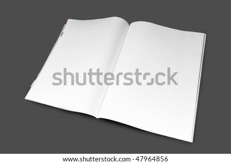 Blank magazine - stock photo