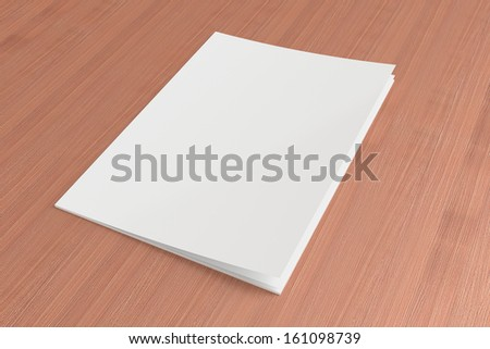 Blank Magazine on the wooden Background for your design - stock photo