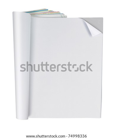 blank magazine page, ready for your design - stock photo