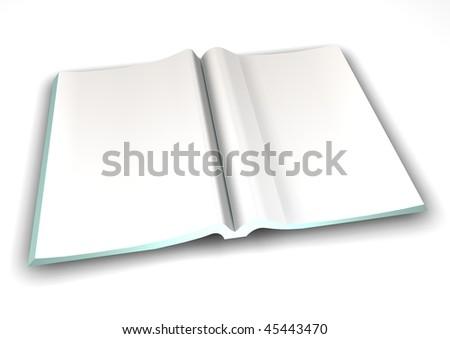 Blank Magazine Spread - stock photo