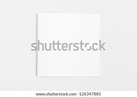Blank Magazine with soft shadow isolated on White Background - stock photo