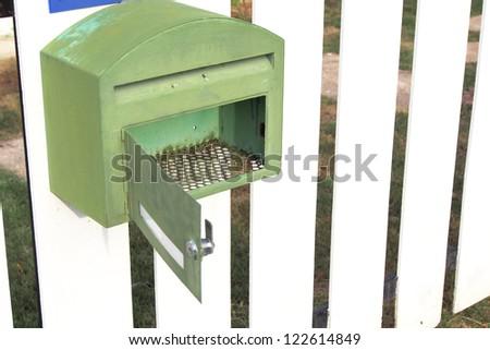 blank mailbox - stock photo
