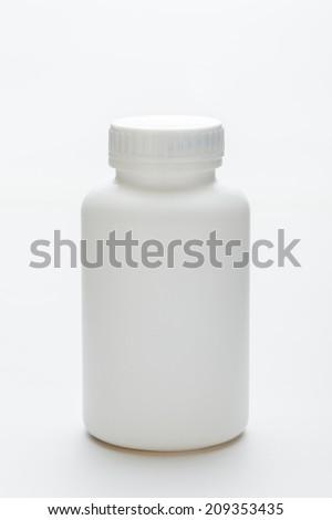 Blank Medicine Bottle - stock photo