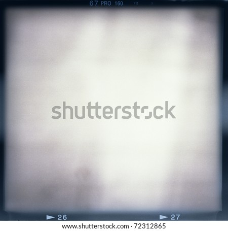 Blank medium format (6x6) film frame with abstract monochrome filling - stock photo