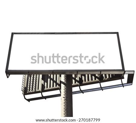 Blank mega billboard isolated on white background  - stock photo