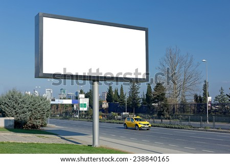 Blank Megaboard of Levent in Istanbul / TURKEY - stock photo