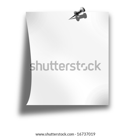 blank memo on a solid white background