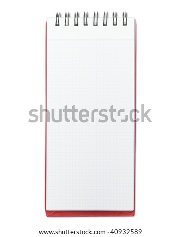 Blank memo pad with red cover - stock photo