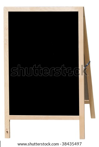 Blank menu board for restaurants - stock photo