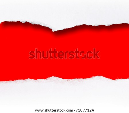 blank message scroll - stock photo