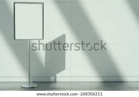 Blank Metal Sign, Indoors - stock photo