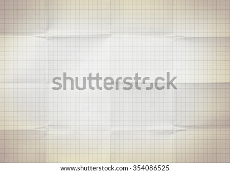 Blank millimeter old yellow gold paper grid sheet background or textured - stock photo