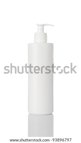 Blank moisturizer container isolated on white background - stock photo