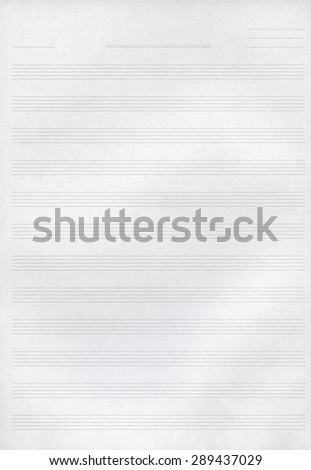 Blank music copy book note sheet - stock photo