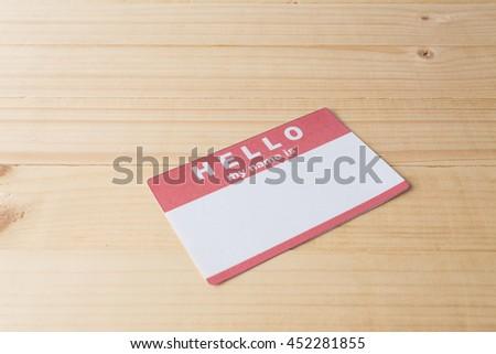 Blank name tag - stock photo
