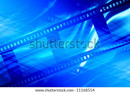 Blank negative film strip