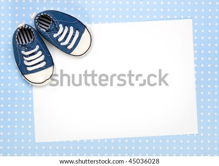 Blank new baby announcement or invite - stock photo