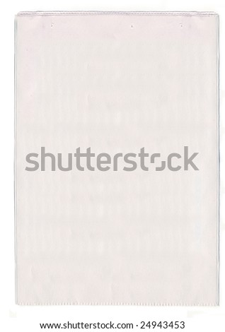Blank newspaper - stock photo