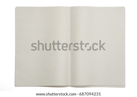 Blank Newspaper On Isolated Background Stock Photo Edit Now