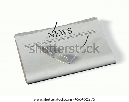 blank newspaper with the headline - News - 3d rendering