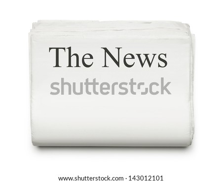 Blank newspapers isolated on white background with copy space