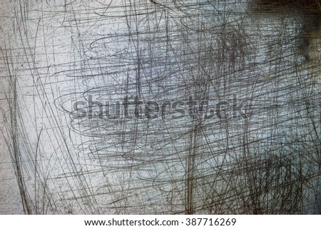 Blank noisy scratched film strip texture background  - stock photo