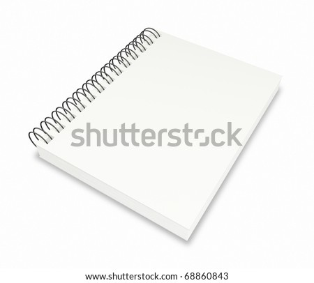 Blank Note Book For write anythings in it - stock photo