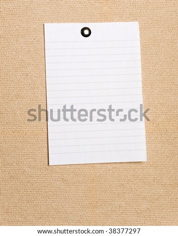 Blank note on cork board - stock photo