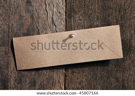 blank note on the wooden wall