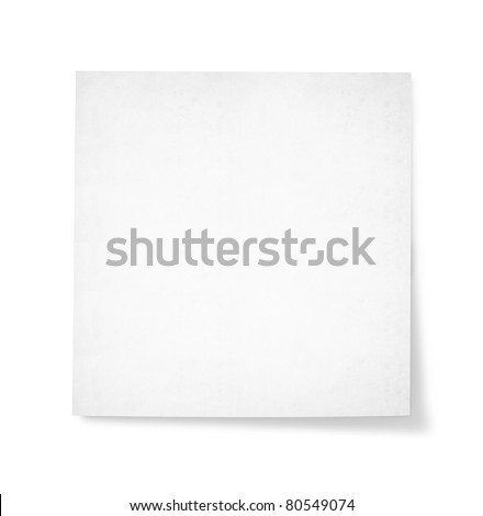 blank note paper for text - stock photo