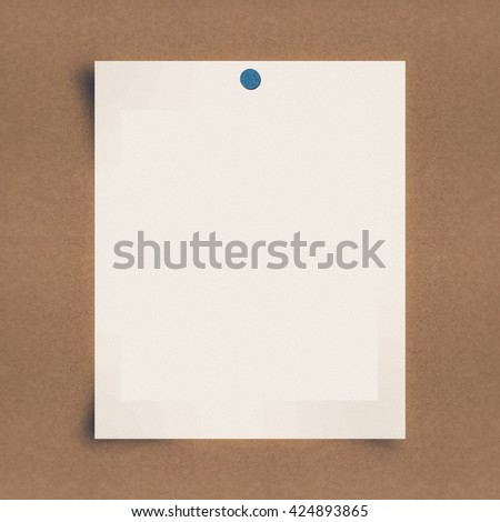 Blank note paper on board background - stock photo