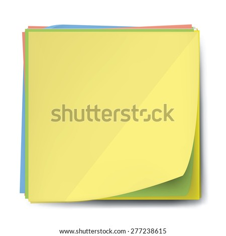 blank note papers - stock photo