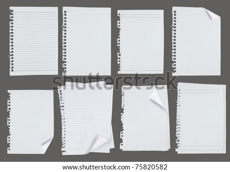 blank note white paper over grey background. each shot separately - stock photo