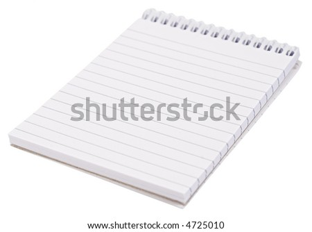 Blank note [with clipping path] - stock photo