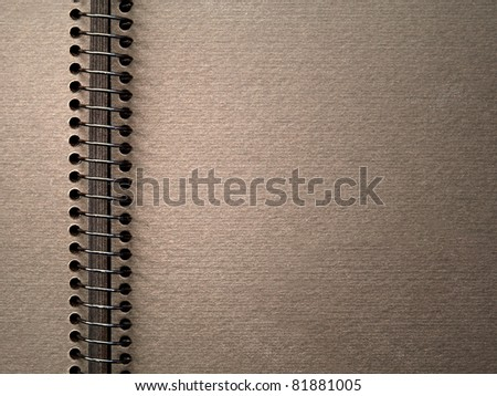 blank notebook background - stock photo