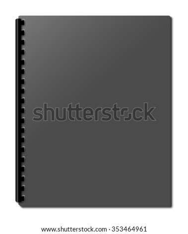 Blank notebook cover isolated on white background