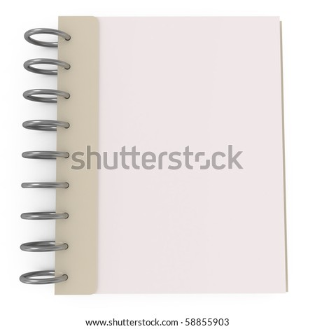 Blank Notebook isolated on white - 3d illustration