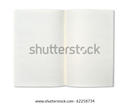 Blank notebook on white background. - stock photo